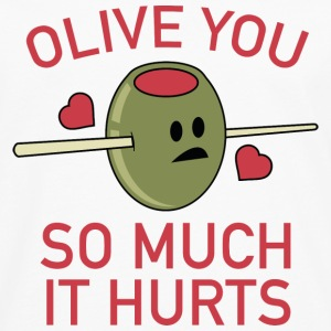 Olive You So Much It Hurts - Men's Premium Long Sleeve T-Shirt