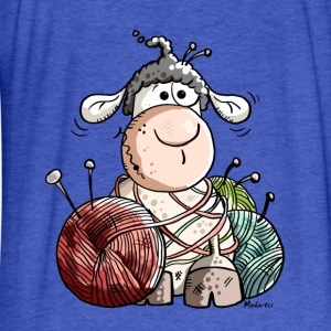 Funny Sheep With Wool Ball Sweatshirts - Fitted Cotton/Poly T-Shirt by Next Level