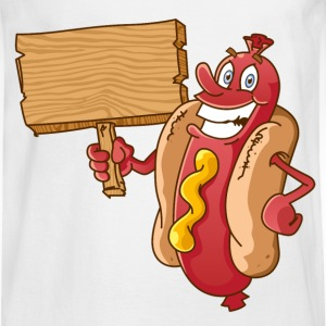 hot dog with wooden blank - Men's Long Sleeve T-Shirt
