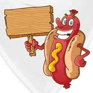 hot dog with wooden blank - Bandana
