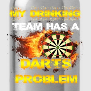 Darts T-shirt - My drinking team - Water Bottle