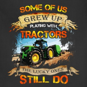 Tractor driver T-shirt - Grew up with tracktors - Adjustable Apron