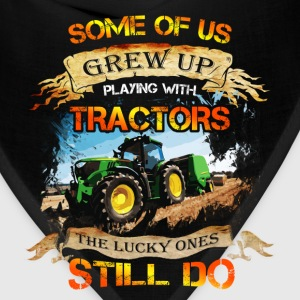 Tractor driver T-shirt - Grew up with tracktors - Bandana
