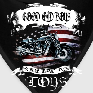 Motorcycles T-shirt - Ride bad ass toys - Bandana