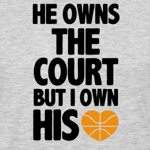 He Owns the Court (Basket T-Shirts - Men's Premium Long Sleeve T-Shirt
