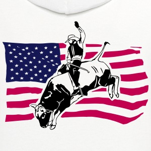 Western Rodeo - Bullrider T-Shirts - Contrast Hoodie
