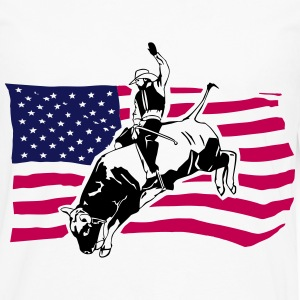 Western Rodeo - Bullrider T-Shirts - Men's Premium Long Sleeve T-Shirt