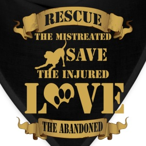 Animal rescue T-shirt - Rescue the mistreated - Bandana