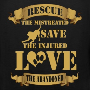 Animal rescue T-shirt - Rescue the mistreated - Men's Premium Tank