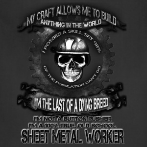 Sheet metal worker T-shirt - The power of metal - Adjustable Apron