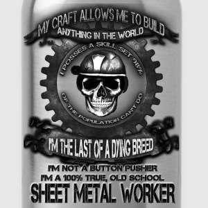 Sheet metal worker T-shirt - The power of metal - Water Bottle