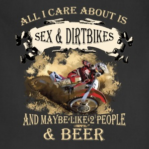 Dirt bikes T-shirt - All I care about - Adjustable Apron