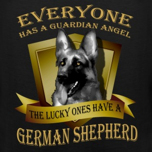 German Shepherd T-shirt - Guardian angel - Men's Premium Tank