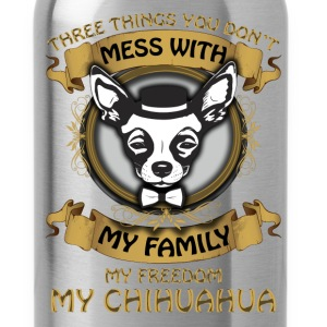 Chihuahua T-shirt - Don't mess with my chihuahua - Water Bottle