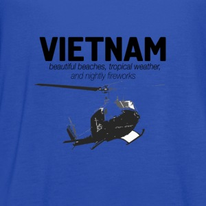 Veterans T-shirt - Vietnam - Beautiful beaches - Women's Flowy Tank Top by Bella