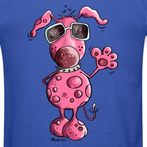 Pink Dog Long Sleeve Shirts - Men's T-Shirt