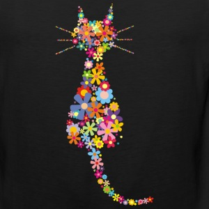 Cat and flowers - Men's Premium Tank