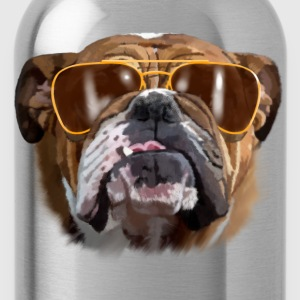 bulldog with sunglasses T-Shirts - Water Bottle