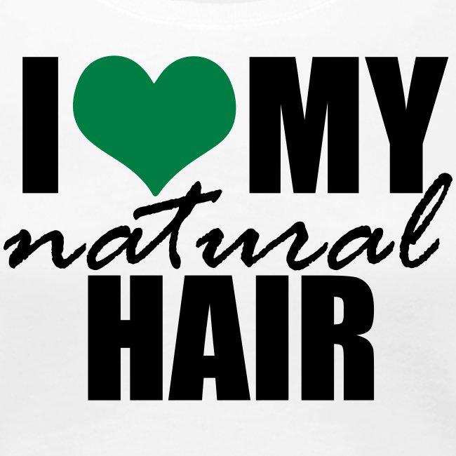 I Love My Natural Hair Black Tank