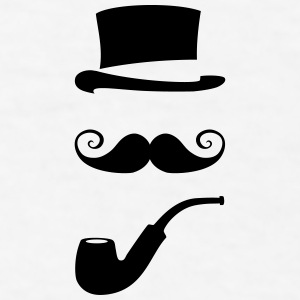 mustache_pipe_hat_20 Mugs & Drinkware - Men's T-Shirt