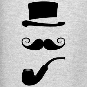 mustache_pipe_hat_20 Tanks - Men's T-Shirt