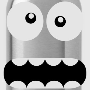 Funny Cartoon Monster Face - Crazy / Smiley Kids' Shirts - Water Bottle