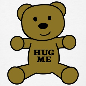 teddy bear hug me Tanks - Men's T-Shirt