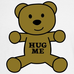 teddy bear hug me Tanks - Men's Long Sleeve T-Shirt