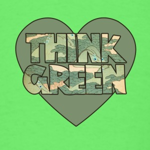 Earth day think green - Men's T-Shirt