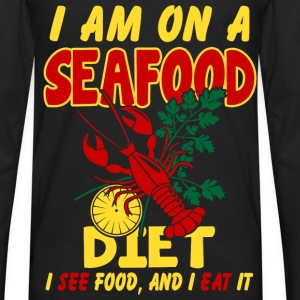 SeaFood Diet Shirt - Men's Premium Long Sleeve T-Shirt