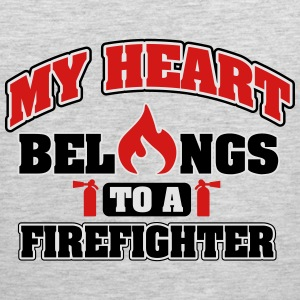 My heart belongs to a firefighter Women's T-Shirts - Men's Premium Tank