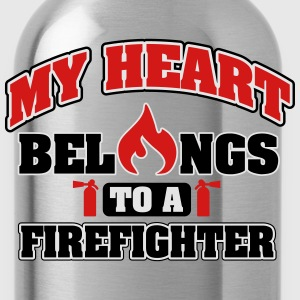 My heart belongs to a firefighter Tanks - Water Bottle