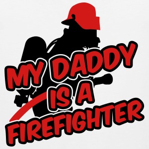 My daddy is a firefighter Kids' Shirts - Men's Premium Tank