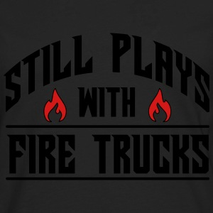 Still plays with fire trucks Baby & Toddler Shirts - Men's Premium Long Sleeve T-Shirt