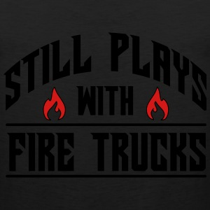 Still plays with fire trucks Baby & Toddler Shirts - Men's Premium Tank