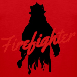 firefighter fireman Women's T-Shirts - Men's Premium Tank