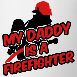 My daddy is a firefighter Baby & Toddler Shirts - Coffee/Tea Mug
