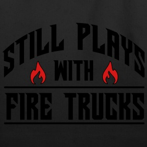 Still plays with fire trucks T-Shirts - Eco-Friendly Cotton Tote