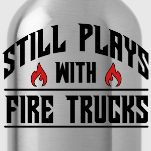 Still plays with fire trucks T-Shirts - Water Bottle