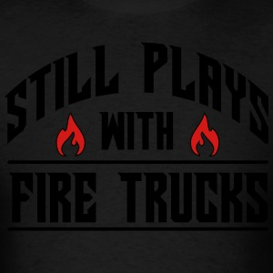 Still plays with fire trucks Hoodies - Men's T-Shirt