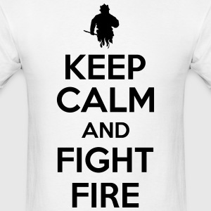keep calm and fight fire Hoodies - Men's T-Shirt