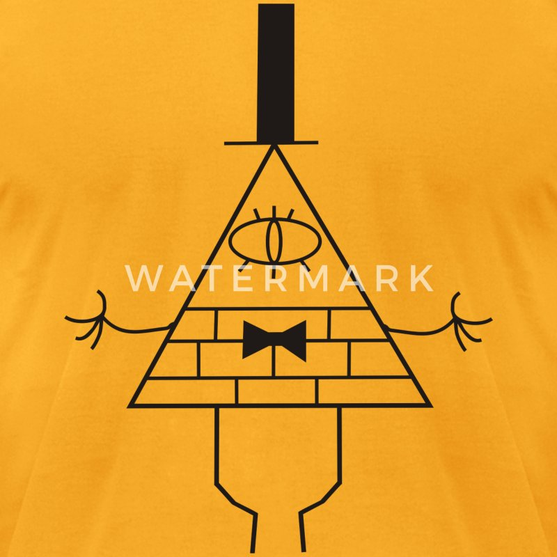 Gravity Falls – Bill Cipher - Men's T-Shirt by American Apparel
