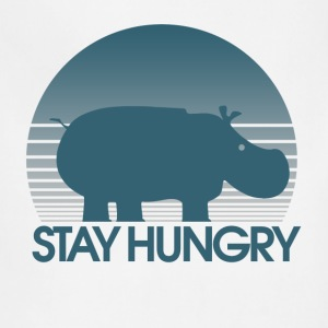 Stay Hungry Hungry Parody hippo - Adjustable Apron