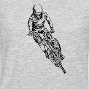 mountain bike cross Women's T-Shirts - Men's Premium Long Sleeve T-Shirt