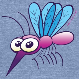 Cute Purple Mosquito Long Sleeve Shirts - Unisex Tri-Blend T-Shirt by American Apparel