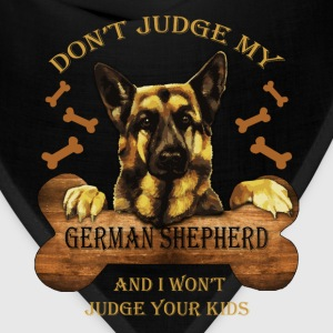 German Shepherd T-shirt - Don't judge Shepherd - Bandana