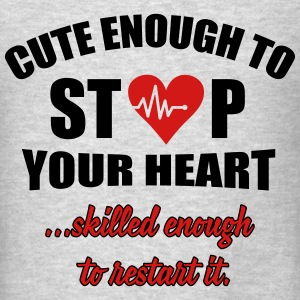 Cute enought to stop your heart - paramedic Tanks - Men's T-Shirt