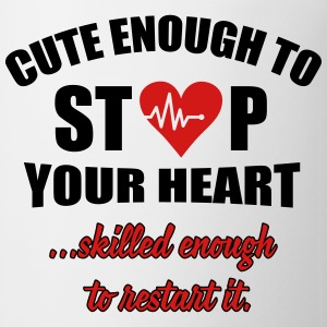 Cute enought to stop your heart - paramedic Hoodies - Coffee/Tea Mug