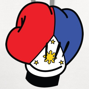 MP Filipino Flag Boxing Glove by AiReal Apparel T-Shirts - Contrast Hoodie