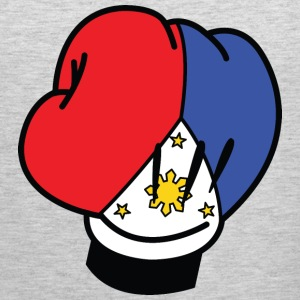 MP Filipino Flag Boxing Glove by AiReal Apparel Women's T-Shirts - Men's Premium Tank